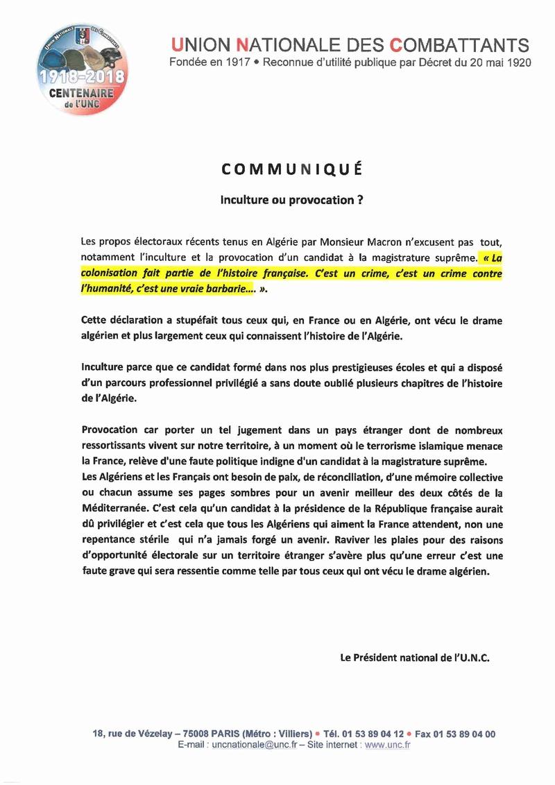 COMMUNIQUE UNC Commun11