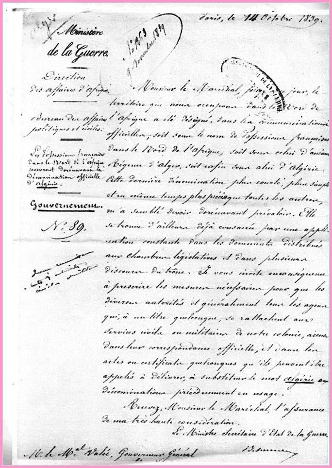 ACTE DE NAISSANCE DE L'ALGERIE Naissa10