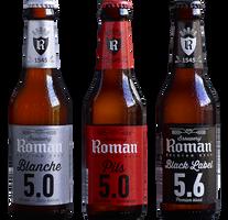 Roman Pils,Roman Black Label,Roman Blanche  Belgique R410