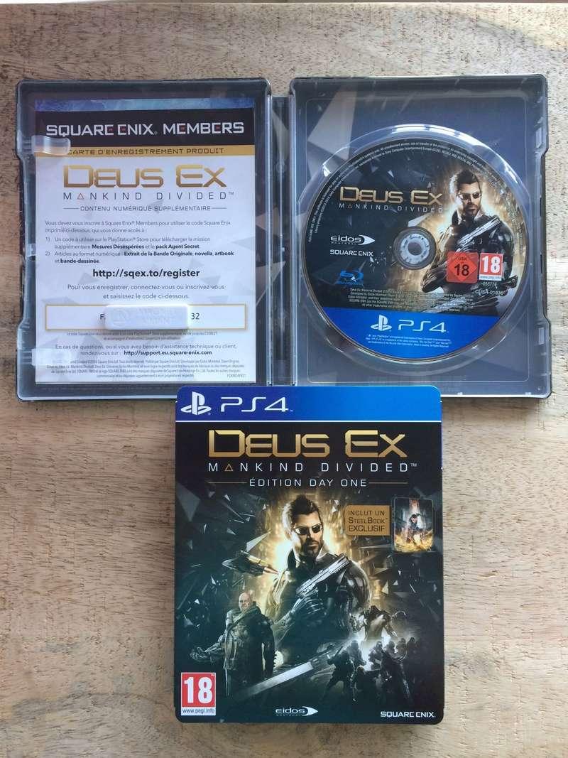 (vends ou echange) Jeu PS4 - DEUS EX MANKIND DIVIDED Img_2431