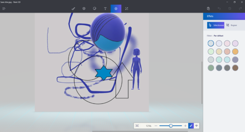 Windows 10 et Paint en 3 D Captur10