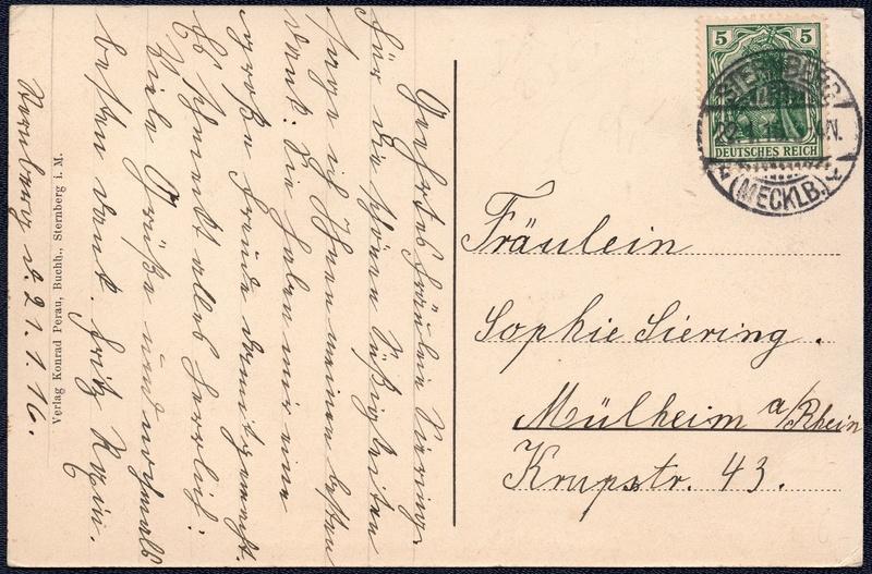 Mecklenburg und Pommern auf Ansichtskarten 1916-011
