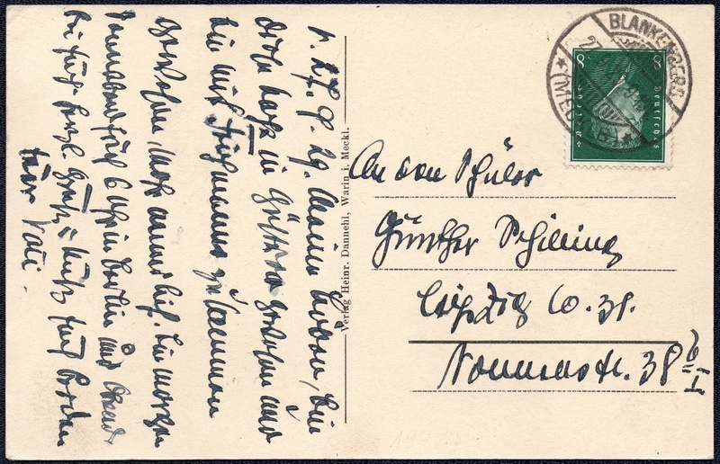 Mecklenburg und Pommern auf Ansichtskarten 1929-013