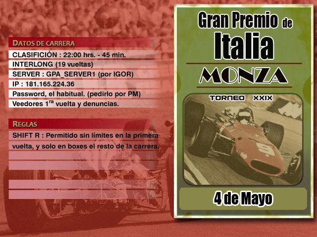 Torneo Edicion XXIX - Monza Monza_10