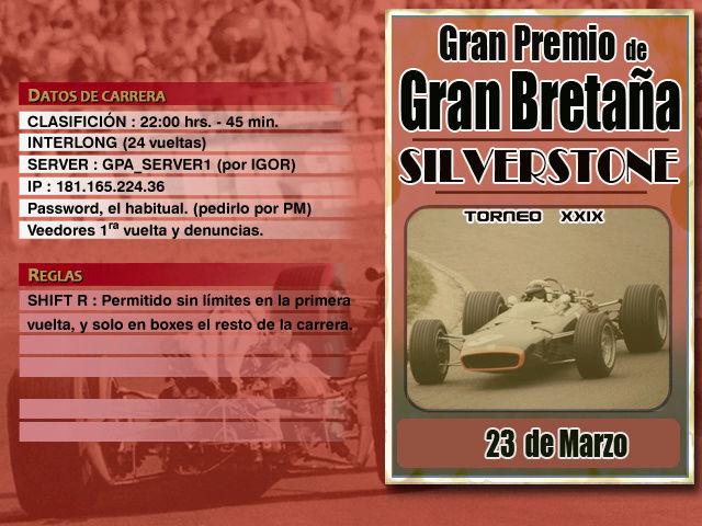Torneo Edicion XXIX - Silverstone Silver10