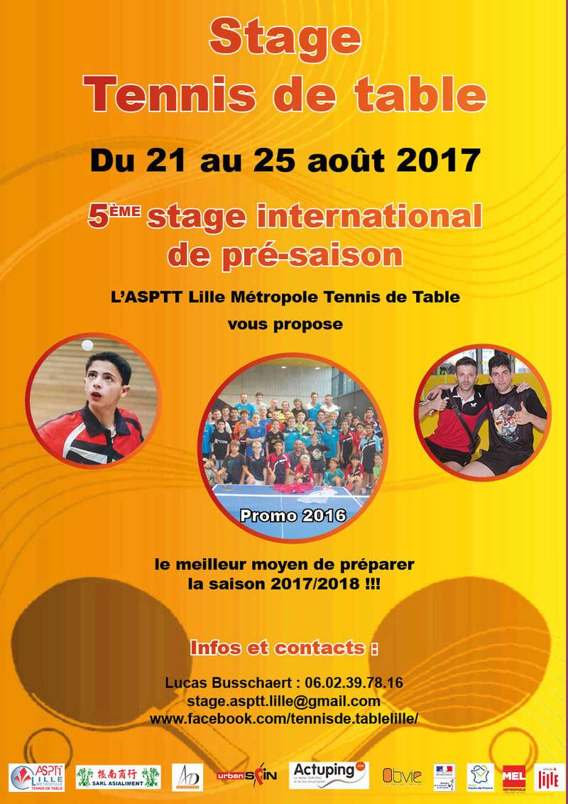 5ème stage international du 21 au 25 août à l'ASPTT Lille Stage210
