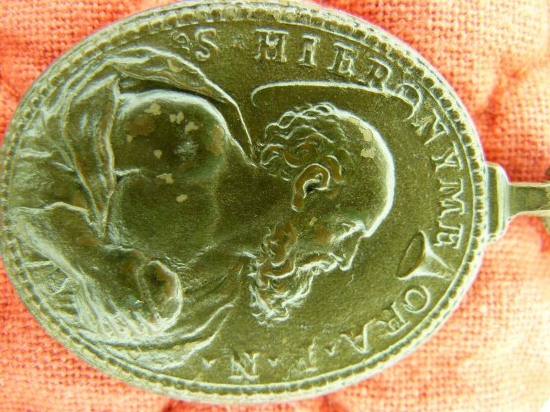 Médaille St-Jérôme & Ste-Marie-Madeleine - XVIIème P1030910