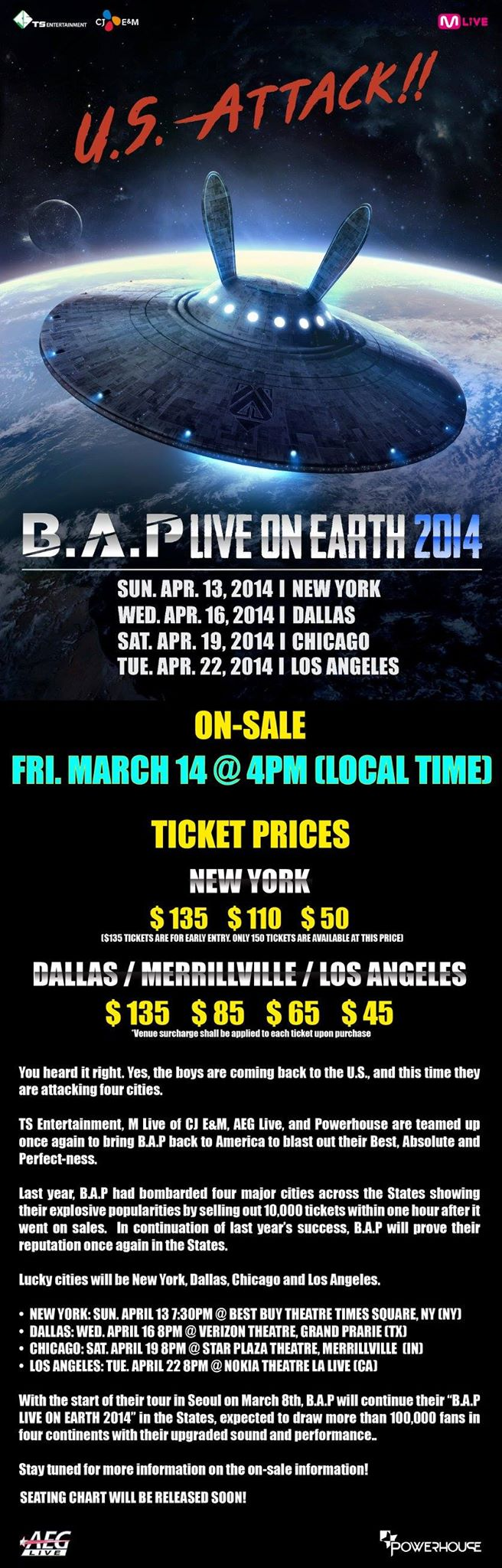 [New-York] B.A.P - Live On Earth (13 avril 2014) 18915310