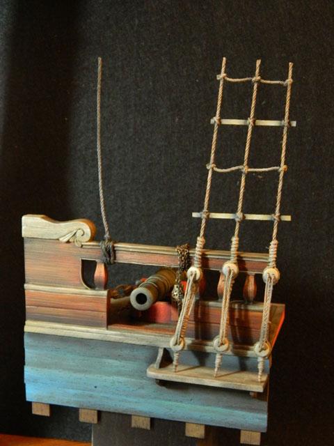 pirates sur pont de navire (peinture du décor fini) - Page 4 Dscn7929