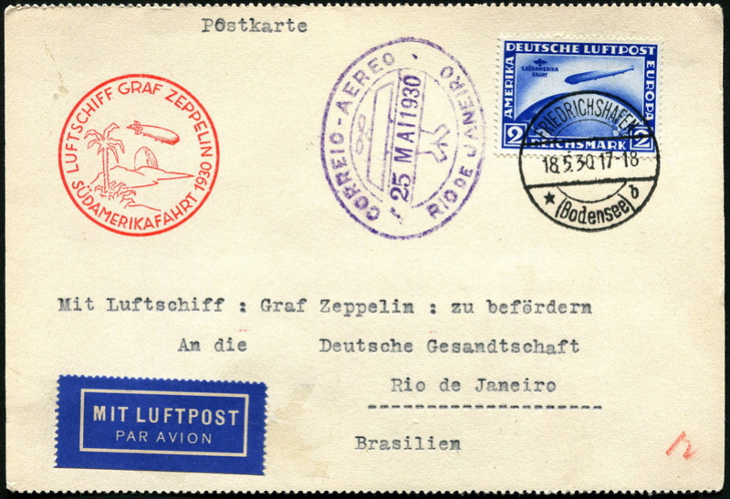 Südamerikafahrt 1930, Post nach Rio de Janeiro - Seite 3 Lz_12710