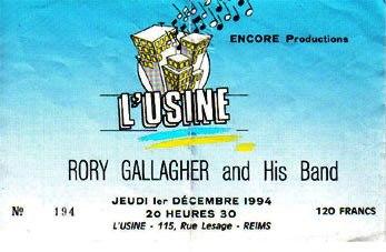 Photo de Xavier Dervillez - L'Usine - Reims - 1er décembre 1994 12087_10