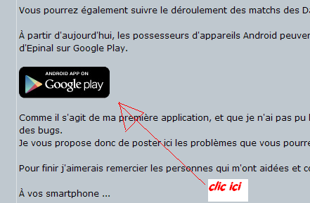 Application Android Dauphins Epinal (Non Officiel) Clicic11