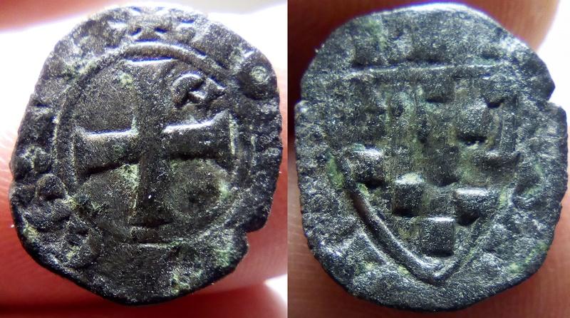 Denier breton de Jean III, atelier d'Évran 1212