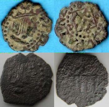 denier Menut de Philippe III d'Espagne 1600- 1605 Ok10