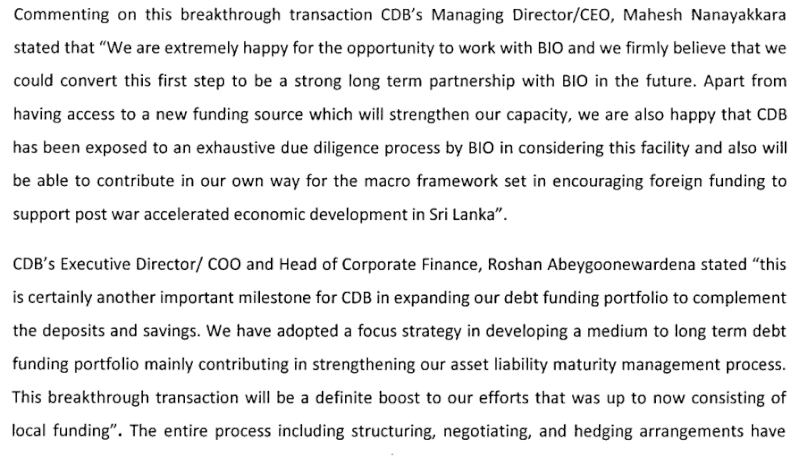 CDB obtains its First Foreign Funding line for US$ 6M from BIO Cdb210