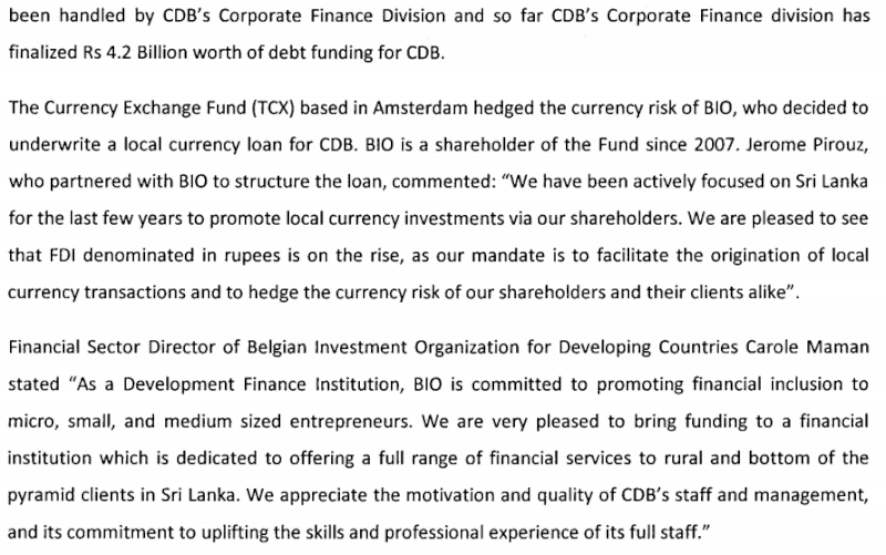 CDB obtains its First Foreign Funding line for US$ 6M from BIO Cdb310