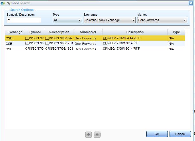 Listing of BOC Debentures Cfin10