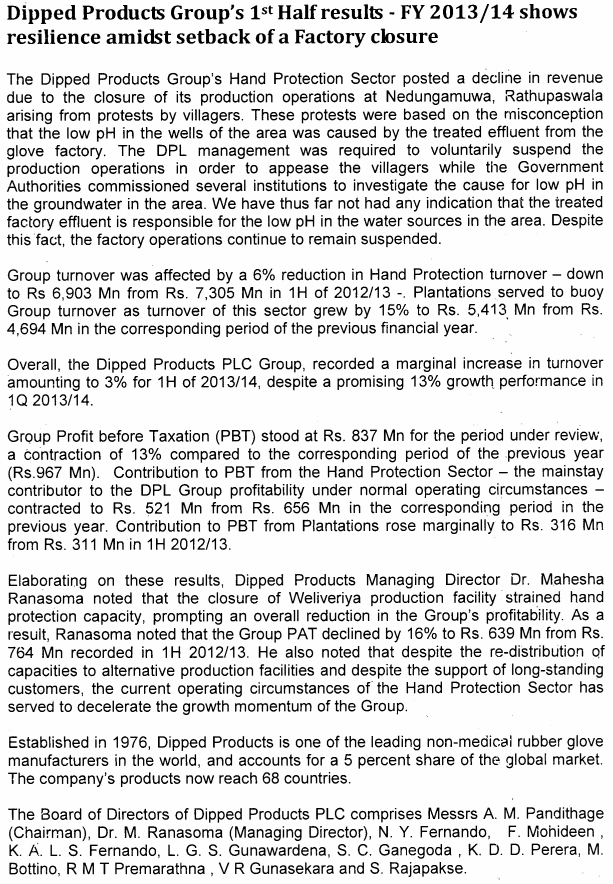29-Oct-2013 DIPD - Interim financial statements 30-09-2013 & Press Release Dipd10