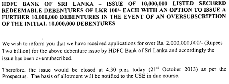 HDFC Bank Debenture - Salient Feature at a Glance  Hdfc12