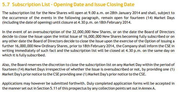 Earliest closing date - Millennium Housing Developers Ltd - IPO Issue10