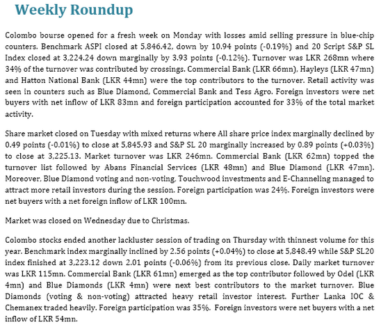 Equity market expects eventful 2014 Week110
