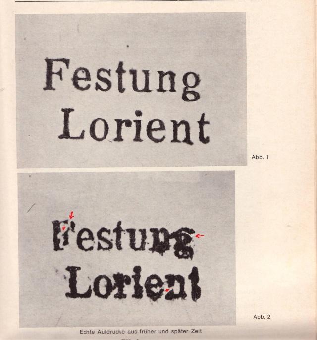 """Lettre avec censure """" Festung Lorient pour Landeleau. 1000110"""