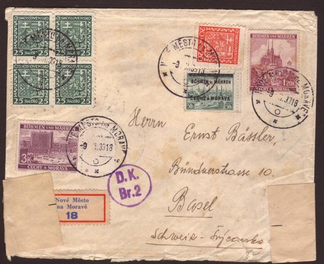 Bohème et Moravie du 15.03.1939 au 08.05.1945 ( Tchécoslovaquie) 1001310