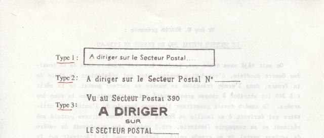Comment les BCM connaissaient le secteur postal réel des militaires 1001410