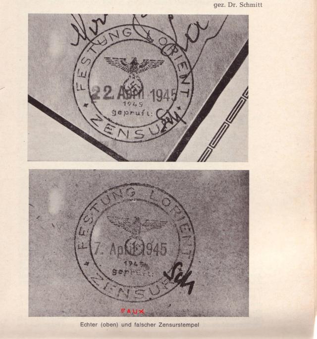 Lettre de Groix du 12.01.1945 avec censure de Lorient. 11000310