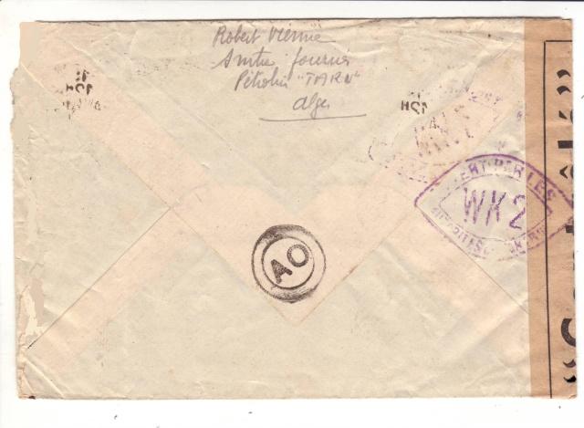 Lettre du pétrolier TARN stationné à Alger en 1942. 1d001810