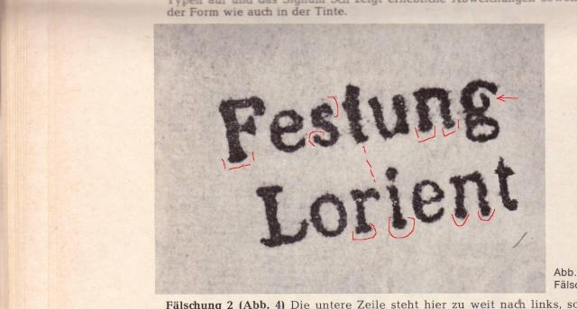 """Lettre avec censure """" Festung Lorient pour Landeleau. 2000110"""