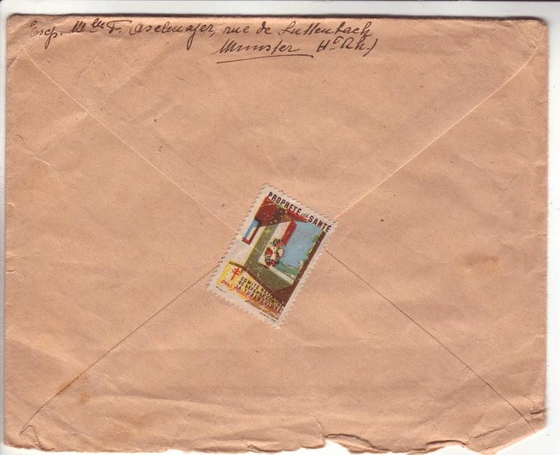Lettre de Munster (68) du 04.12.1946 pour Toulouse avec contenu censuré!?! 2026811