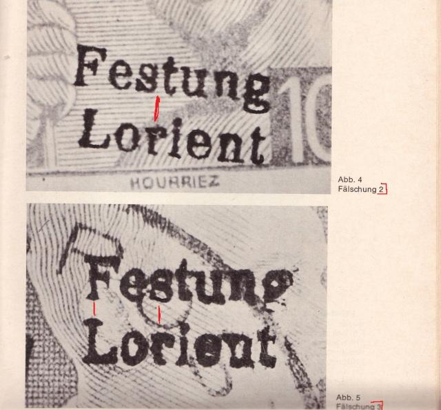 """Lettre avec censure """" Festung Lorient pour Landeleau. 3000410"""