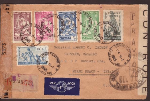 """Série """"CCSMPG"""", oevres de solidarité française, entraide de l'aviation sur lettre. 30014_10"""