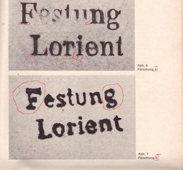 """Lettre avec censure """" Festung Lorient pour Landeleau. 4000210"""