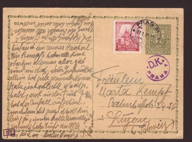 Bohème et Moravie - Entier Postaux. 4000910