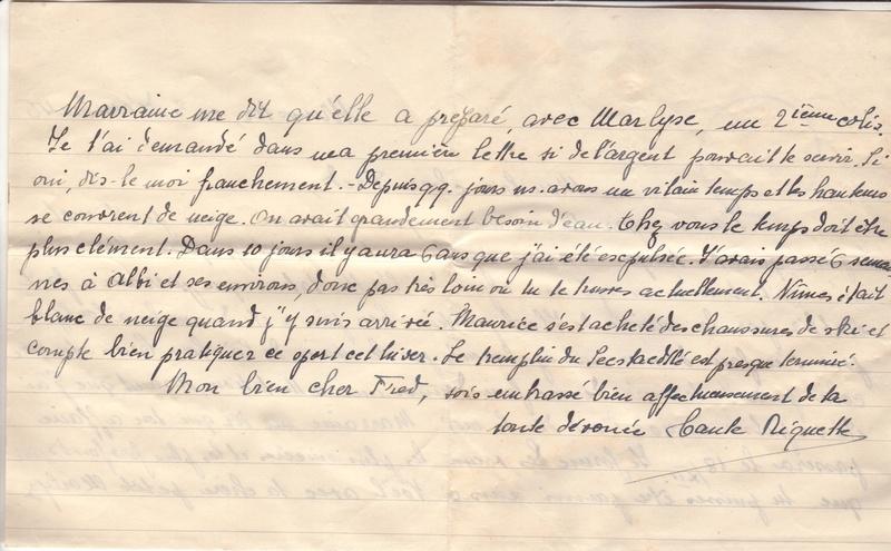 Lettre de Munster (68) du 04.12.1946 pour Toulouse avec contenu censuré!?! 4004310