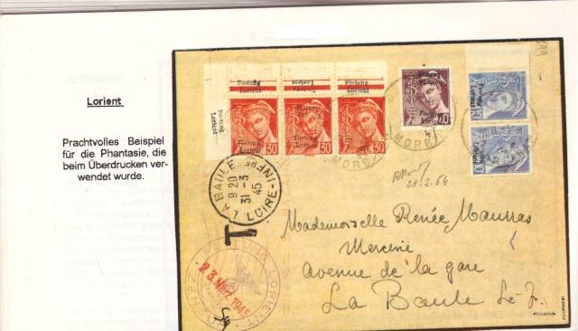 """Lettre avec censure """" Festung Lorient pour Landeleau. 5000510"""