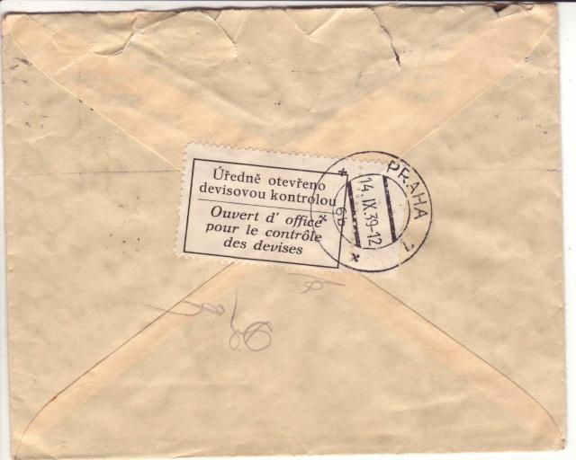Bohème et Moravie - Utilisation de timbres tchèques. 6000110