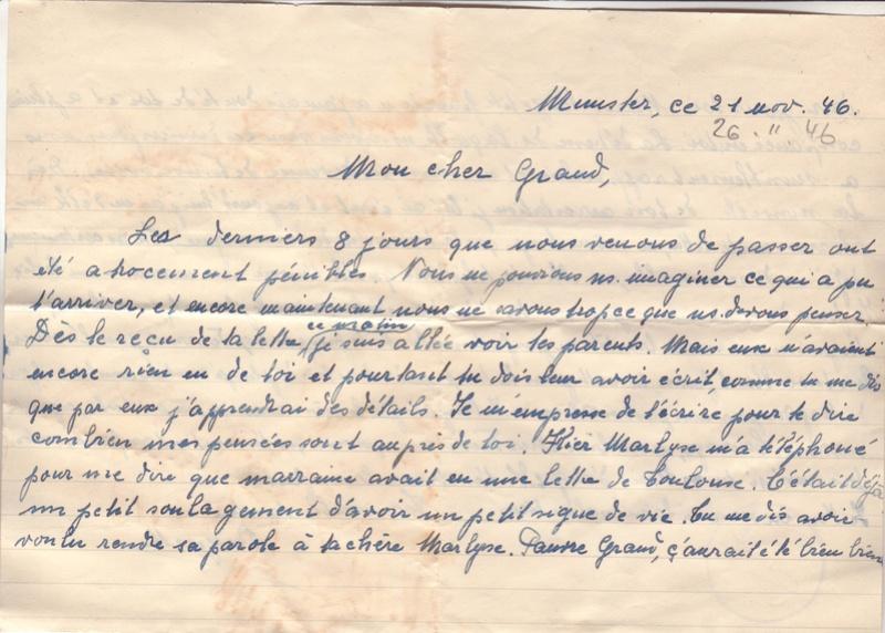 Lettre de Munster (68) du 04.12.1946 pour Toulouse avec contenu censuré!?! 6003210