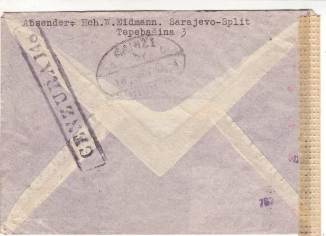 Echantillon de censures Croates. 6d000310