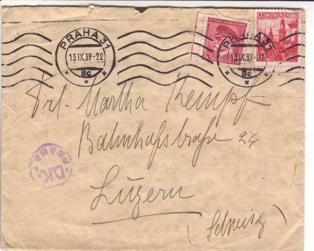 Bohème et Moravie - Utilisation de timbres tchèques. 7000410