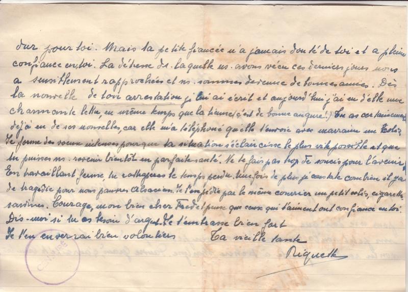 Lettre de Munster (68) du 04.12.1946 pour Toulouse avec contenu censuré!?! 7002910