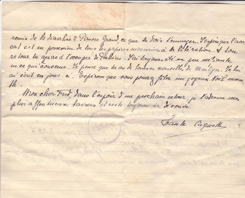 Lettre de Munster (68) du 04.12.1946 pour Toulouse avec contenu censuré!?! 9002210
