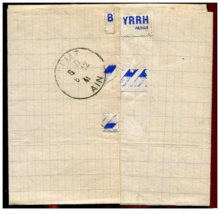Courrier interieur de 1941 - département de l'Ain avec un cachet de la Police allemande !! 941_0013