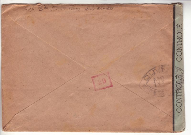 Les cachets de censure a N° (censure de l'armée) utilisés dès juillet 1944. _0300010