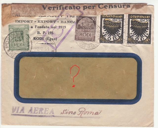 Censure italienne de Rhodes - Dodécanèse - Egée. _0f00010