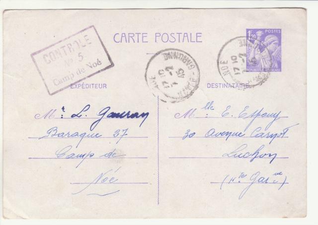 Tarif des cartes postales pendant la Deuxième Guerre mondiale _1000015