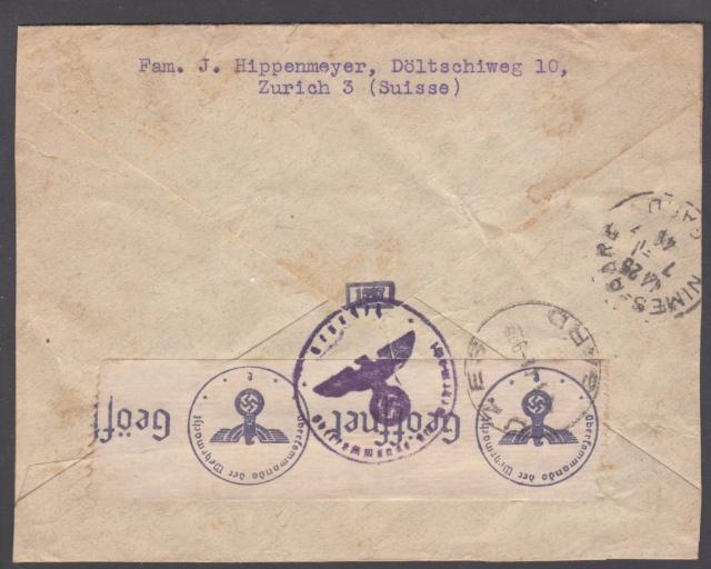 Lettre de Zurich de juillet 1940 pour la zone libre - Mal dirigée !! _1000024