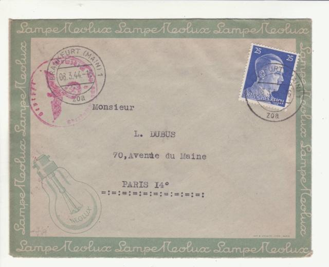 Lettre envoyée directement au centre de contrôle de Francfort/Main _1000111